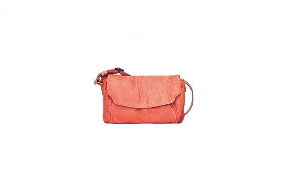 VOi Umhängetasche 21090 Leder Damen Crossover Bag elegante Schultertasche aus weichem Soft Leder in Cayenne Orange Voi QP0SjZA80