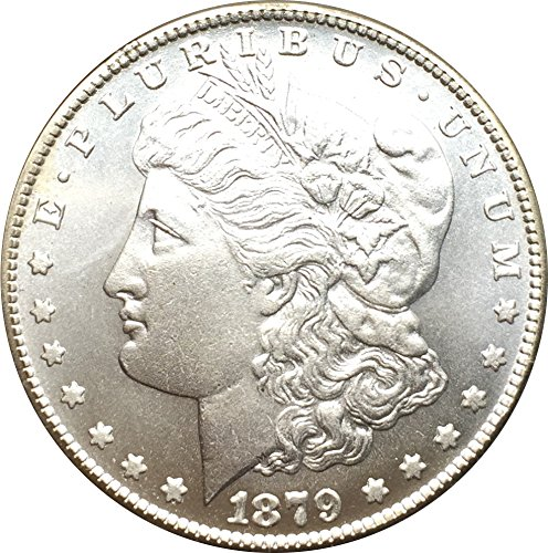 Rare Antique USA United States 1879 CC Cupronickel Silver Color Morgan Dollar - Coins Antique Dollar