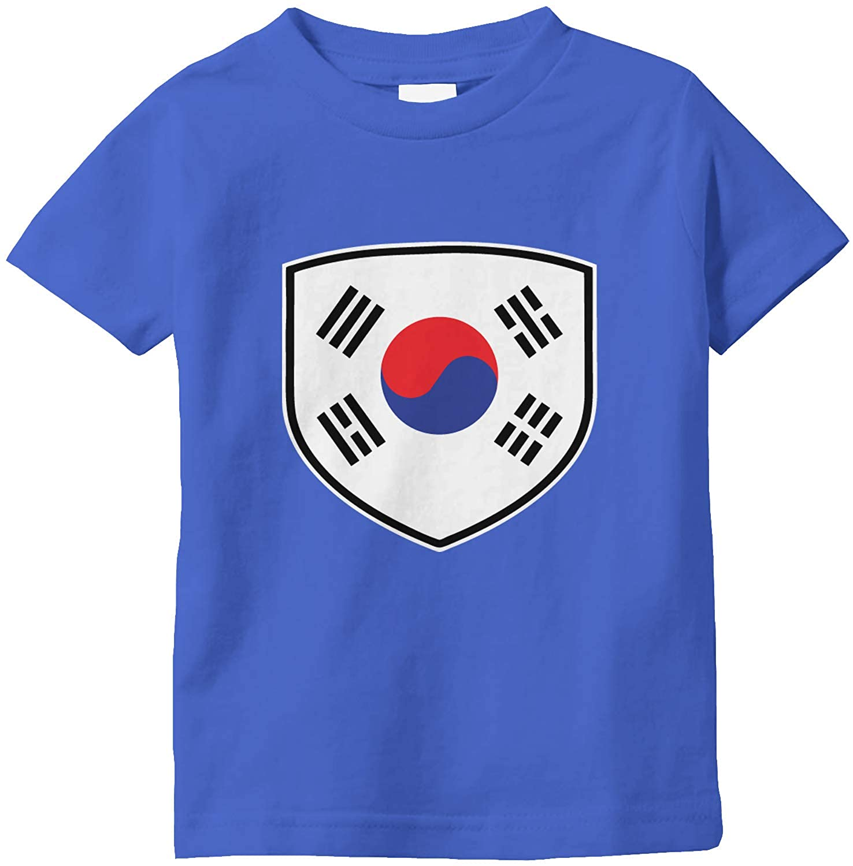 Amdesco South Korea Shield Korean Flag Infant T-Shirt