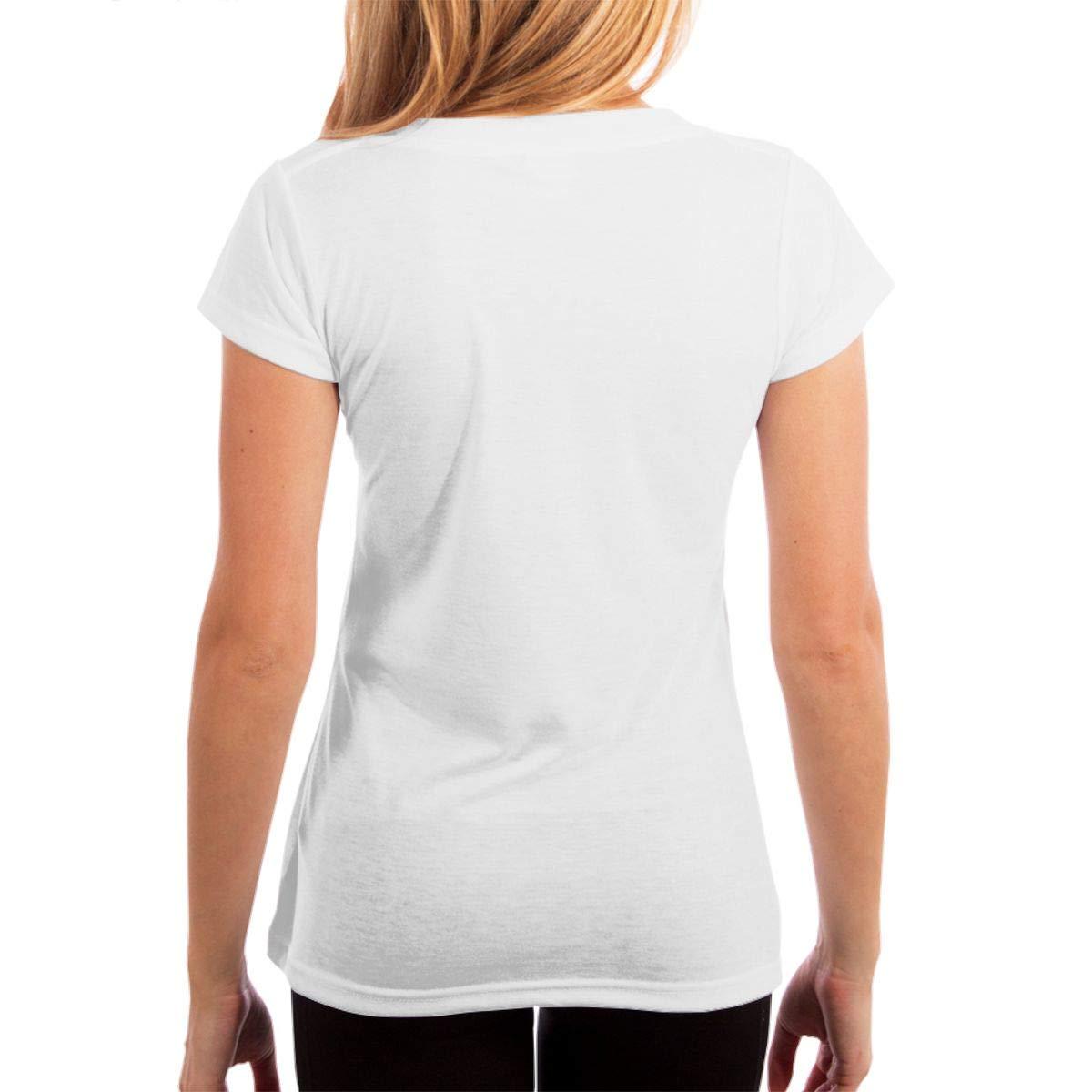 KshsDigu Mudhoney Womens V Neck Short Sleeve Tee Tops Cotton T-Shirts Black