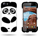 CoverON® Hard Slim Design Case for BLU Life One L120 - with Cover Removal Pry Tool - Black Cute Panda