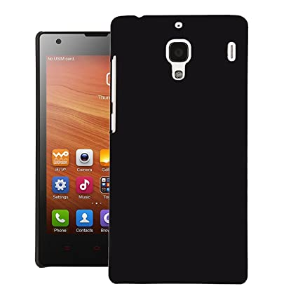 best loved 85aab 8a0a0 Rishabh Exports Matte Finish Back Case Cover For Redmi 1S (Black)