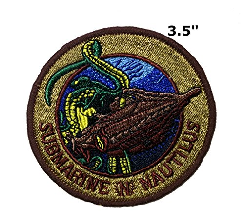 Application Classic TV Movie Cosplay Nautilus Badge Embroidered Iron Or Sewn-On Applique Patch