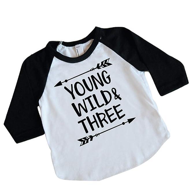 Amazon.com: Camiseta de tercer cumpleaños para niño, traje ...