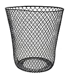 Essentials Wire Mesh Waste Basket (Black)