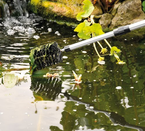 Koi Pond Algae Cleaning Brush with 70'' Telescopic Pole, for Hard to Reach Areas