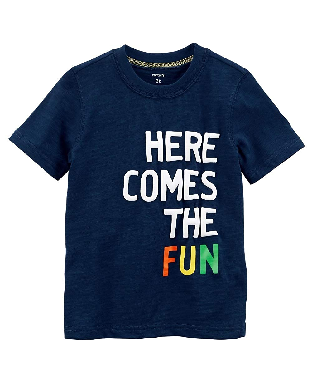 Carters Baby Boys Here Comes The Fun Slub Jersey Tee