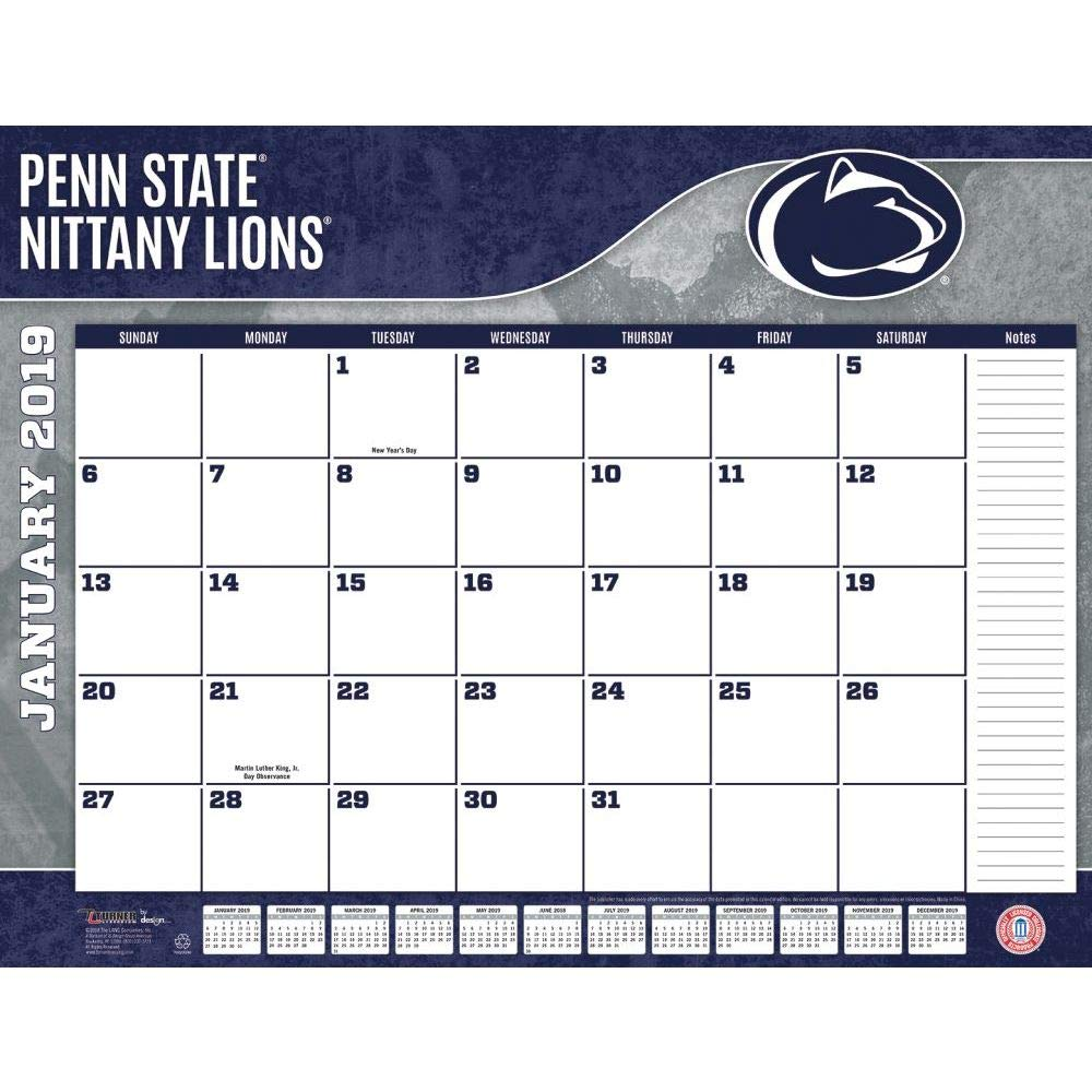 Turner 1 Sport Penn State Nittany Lions 2019 22X17 Desk Calendar Office Desk Pad Calendar (19998061487) by Turner (Image #2)