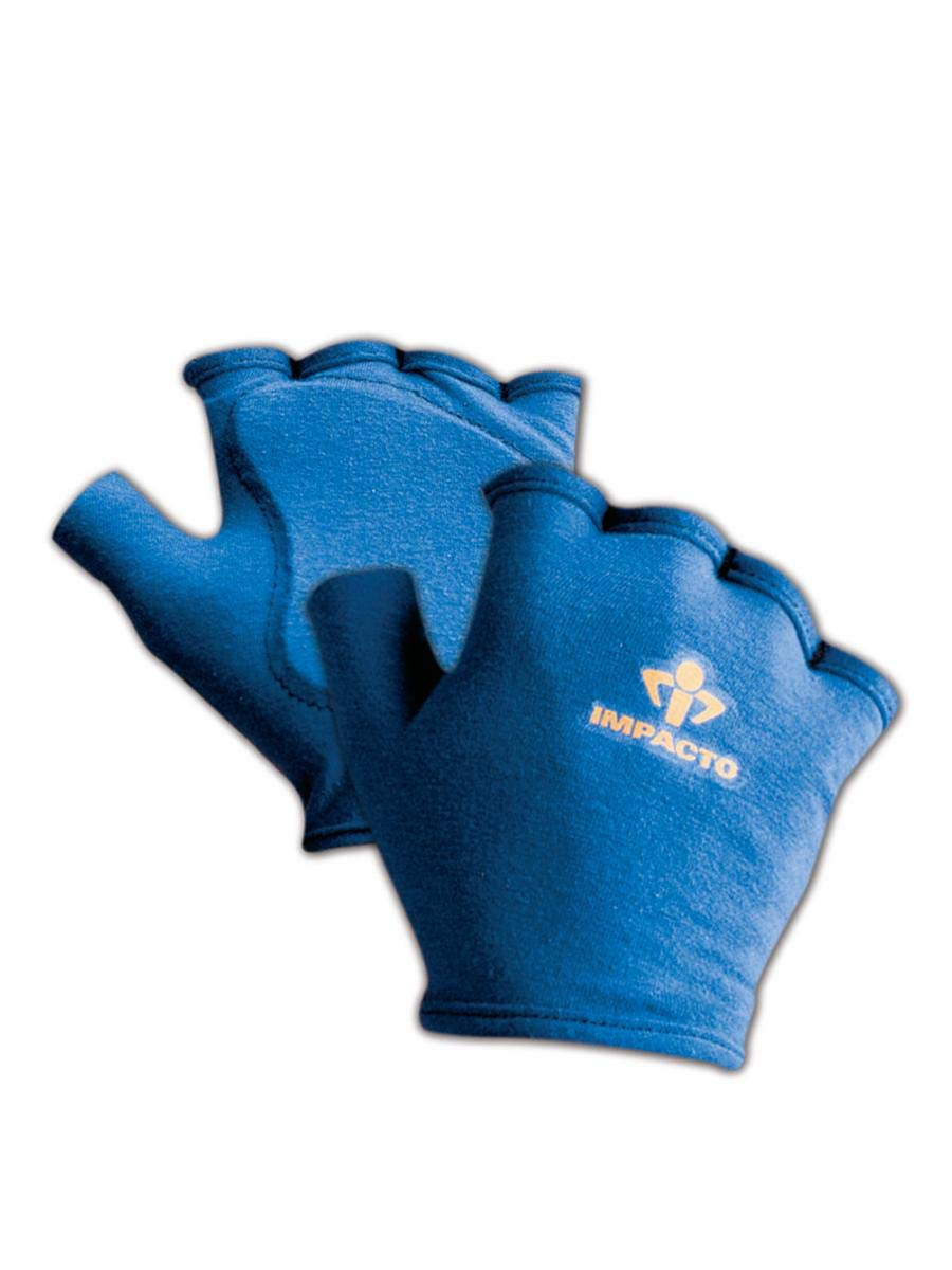 Impacto 501-00 S Anti-Impact Glove Liner with Padding, Pair, Small, Blue