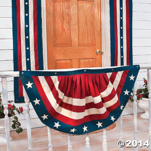 Vintage Americana Bunting Set - Pillar and Swag - Indoor Outdoor Porch Rail Decor - Primitive Old Look