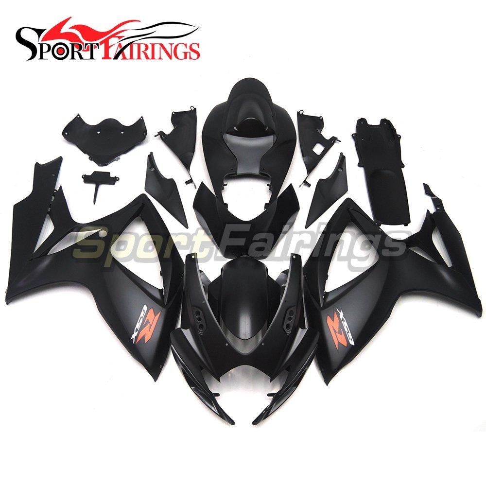 Sportfairings Complete Injection Fairing Kit For Suzuki GSX-R750 GSX-R600 Year 2006 2007 K6 Fairings Sport Bike Black Matte