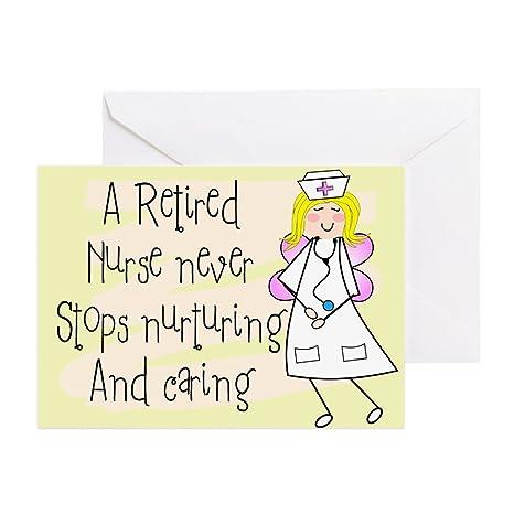 Amazon.com: CafePress – jubilado Nurse – Tarjeta de ...