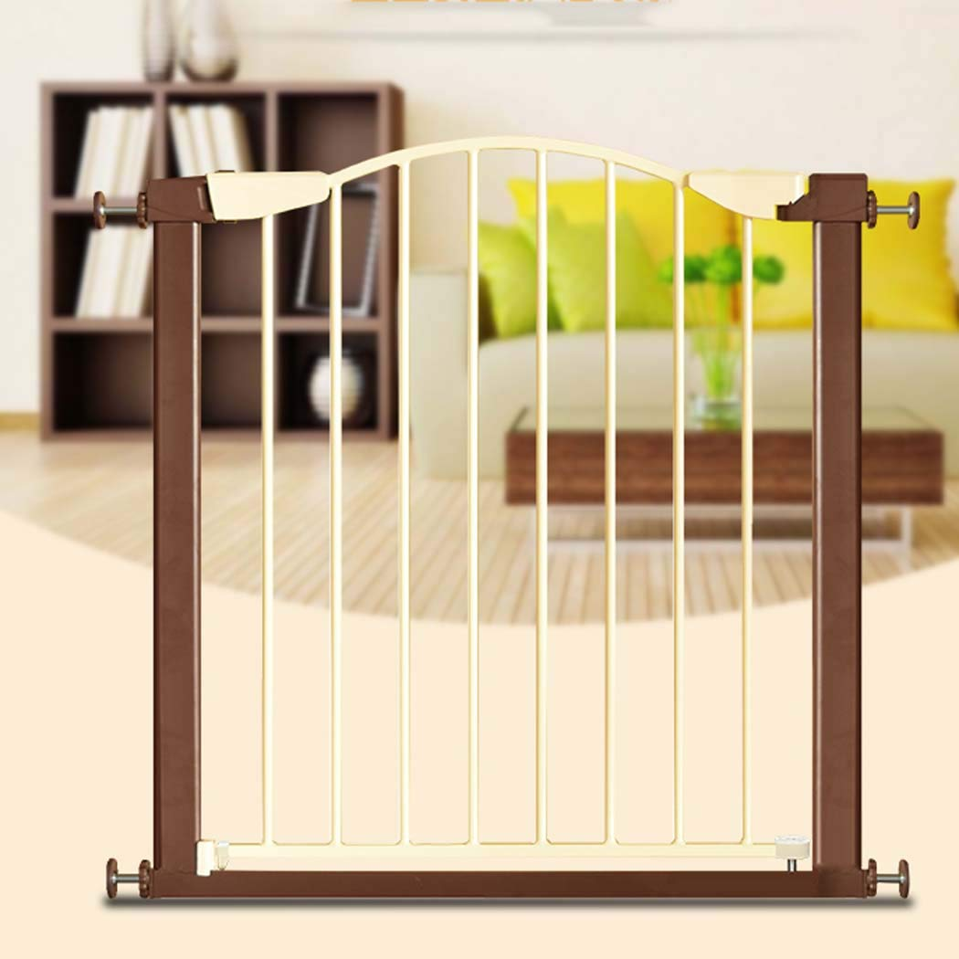 White 7584cm White 7584cm Easy-Close Baby Gate  The Multi-Directional Swing gate with Triple Locking System Ideal for doorways or Between Rooms. Pressure Mount,White,7584cm