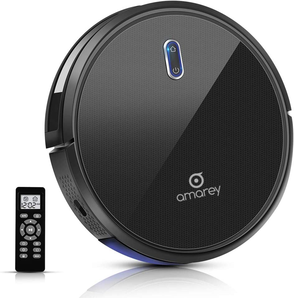 Robot Vacuum, 100mins Long Lasting, Timing Function, Super Strong Suction Robot Vacuum Cleaner, Self-Charging, 2.7inch Super Thin, 4 Cleaning Modes, Robotic Vacuums for Pet Hair, Hard Floor, Carpet
