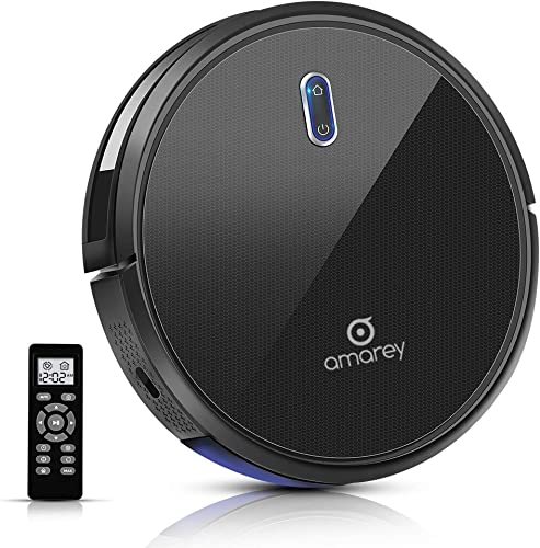 Robotic Vacuum Cleaner – Robot Vacuum, 100mins Long Lasting, Super Strong Suction, Self-Charging,Timing Function, 2.7inch Super Thin, 4 Cleaning Modes, Hard Floor Robot Vacuums for Pet Hair, Carpet