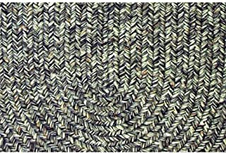 product image for Rhody Rug SA88A008X028-4 Sandi Tweed Braided Stair Tread44; Graphite - Set of 4