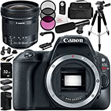Canon EOS Rebel SL2 DSLR Camera with EF-S 10-18mm f/4.5-5.6 IS STM Lens 14 Accessory Bundle – Includes 32GB SD Memory Card + 2x Replacement Batteries + MORE - International Version (No Warranty)