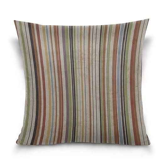 Funda de Almohada Texture Surface Bands Decorative Cushion ...