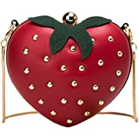 حقيبة كتف جديدة بتصميم فاكهة الفراولة وحجم صغير مع حزام طويل بتصميم سلسلة ثعبان ناعمة بحلقات متداخلة حقيبة ساتشيل ملائمة…