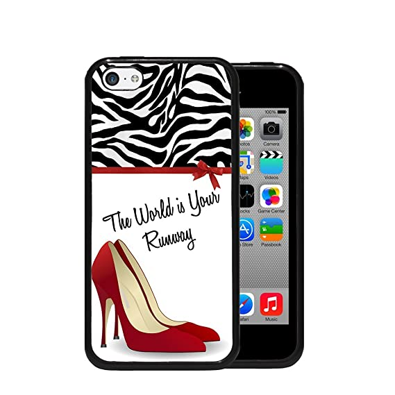 3f6ad55abc1 Amazon.com: The World Is Your Runway Red Pump High Heel Red Bow ...