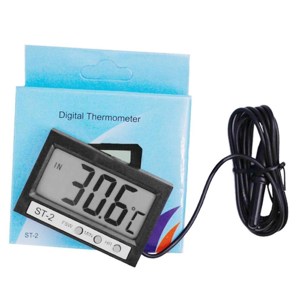 happygirr LCD Auto Digital Innen Au/ßen Thermometer Mini Autothermometer zum Messen der Temperatur im Innenraum schwarz 57 38,5 mm