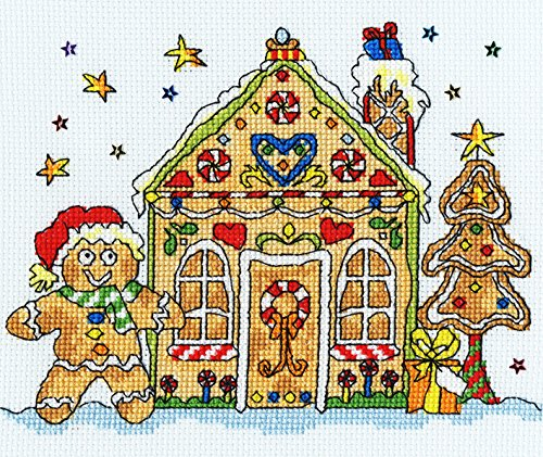 Bothy Threads Sew Dinky Gingerbread House Cross Stitch Kit by Bothy Threads