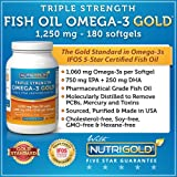 Nutrigold Triple Strength Omega-3 Gold (1,060 mg Omega-3s per softgel), 1250 mg, 180 softgels, Health Care Stuffs
