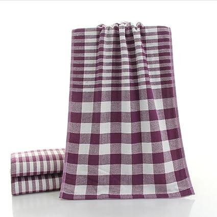 Toallas Conjunto de 4 algodón puro Gasa suave Toalla de cara antibacteriana Absorbente Simple Lattice Toallas