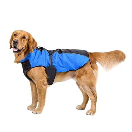 Perro Ropa para Perros Grandes Invierno impermeable perro Lluvia abrigo Chaquetas transpirable Outdoor para grossen perro