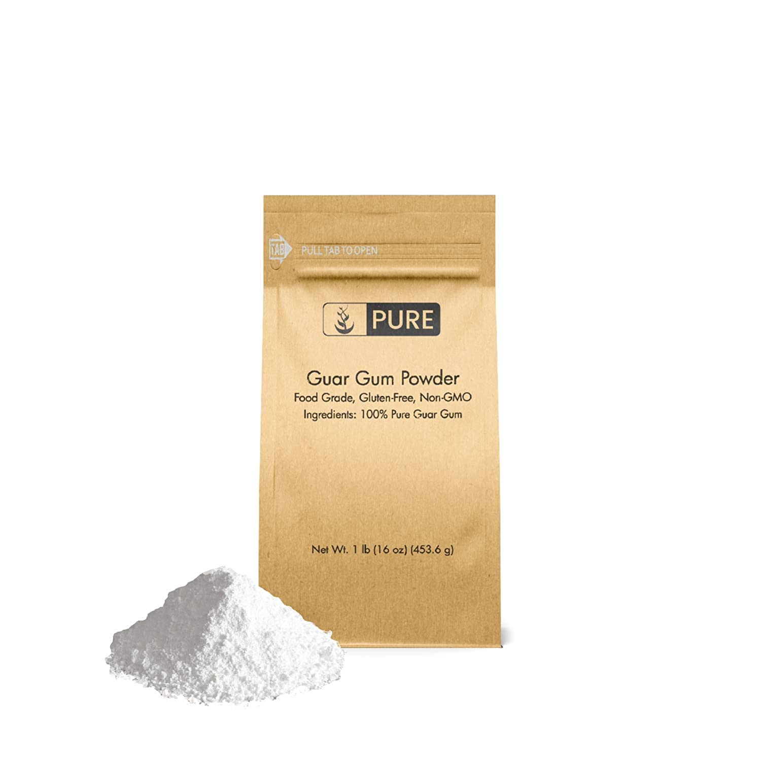 Guar Gum Powder (1 lb.) by Pure Ingredients, Food Safe , Gluten-Free, Non-GMO, Thickening Agent