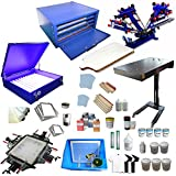 4 Color Screen Printing Kit Silk Screen Printing Machine Screen Printing Press 4 Color 1 Station