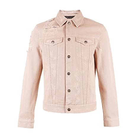 Chaqueta de algodón de Color Rosa para Hombre Chaqueta de ...