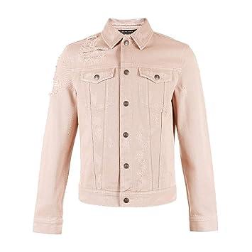 Abrigos Ropa/Hombre/Ropa Chaqueta de algodón de Color Rosa para Hombre Chaqueta de