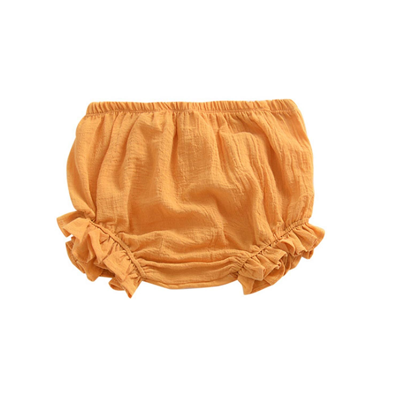 AYIYO Newborn Toddler Baby Girls Kids Cotton Linen Bloomer Shorts Diaper Cover
