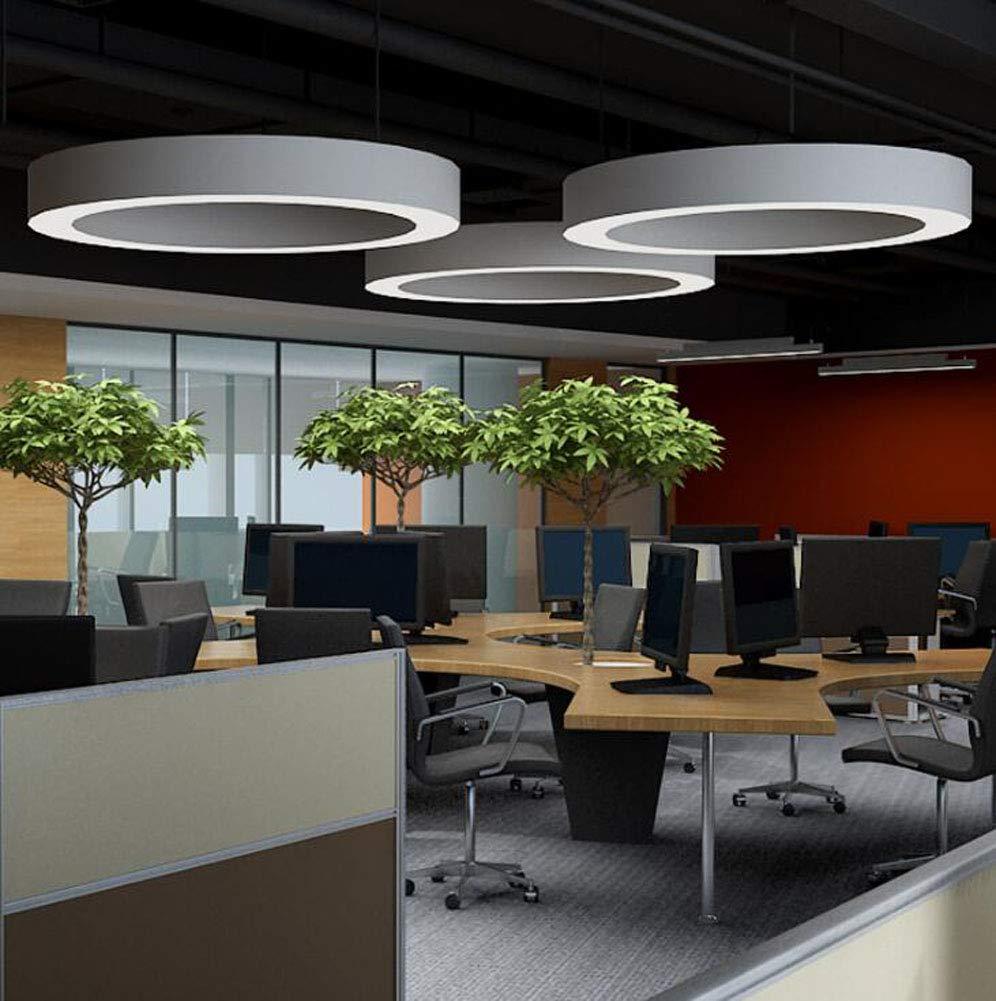 ZHENAO Moderner Minimalistischer LED-runder H/ängenden Deckenleuchte-Landhausb/üroleuchter