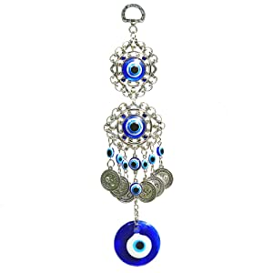 COTO Turkish Blue Evil Eye Wall Hanging Ornament Home Decor Protection Good Luck Blessing Housewarming Birthday Gift
