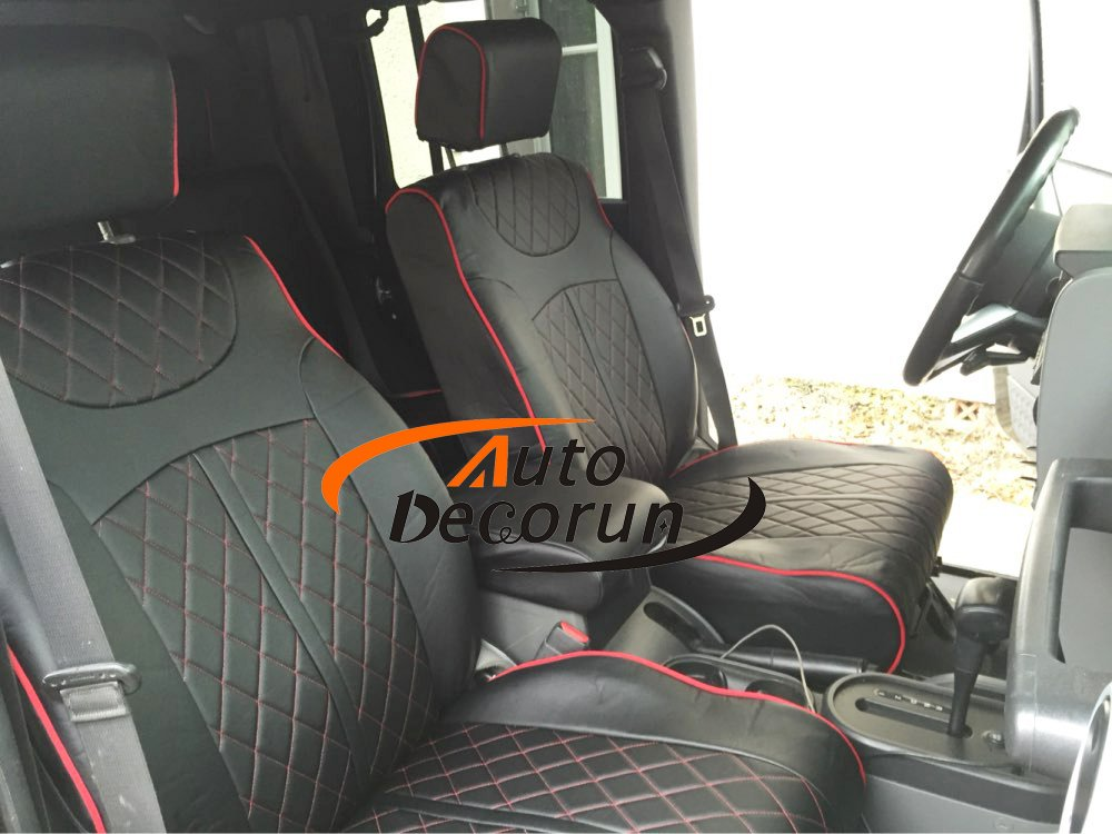 JEEP WRANGLER 2013-2016 GREY LEATHER-LIKE CUSTOM MADE FRONT SEAT COVER