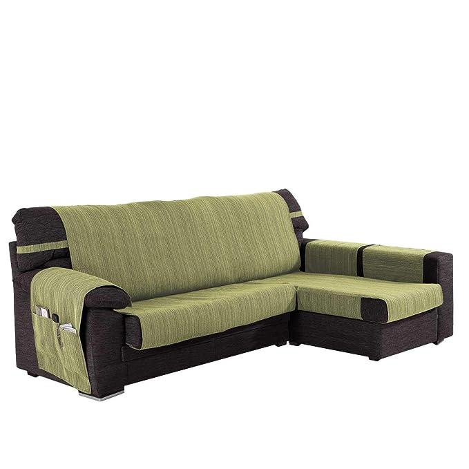 Funda Cubre Chaise Longue Modelo Darsena, Color Verde Kiwi, Medida Brazo Derecho – 240cm (Mirándolo de Frente)