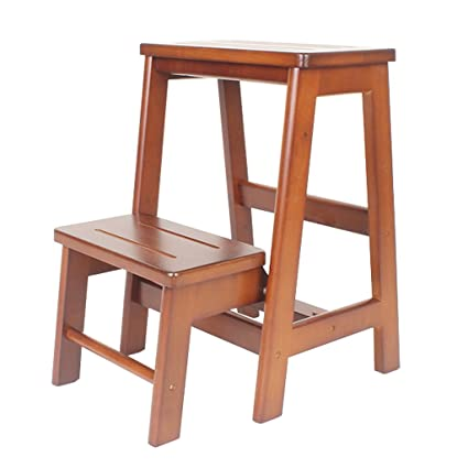 Amazon.com: Step Stool Wood,Bed Steps/Plant Stand Wood ...