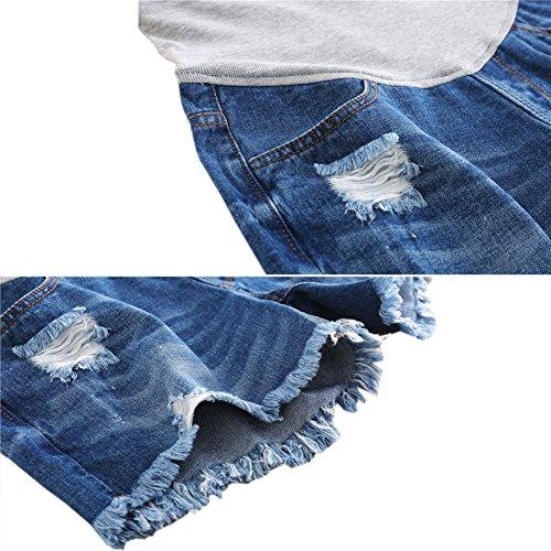Ventre Femme Soutien Style3 Hzjundasi Jeans Élastique De Mode Denim Doux Maternité Shorts xhrdtQCs
