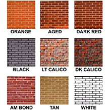 9 Assorted Brick Scenery Sheets for Scrapbooking and Paper Crafts