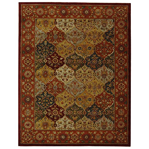 Heritage Collection Oval Rug - Safavieh Heritage Collection HG510B Handcrafted Traditional Oriental Multi and Red Wool Area Rug (8'3