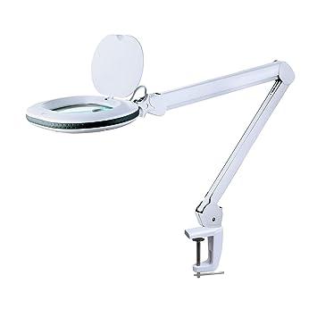 78ebfdfd24 Lumeno 861XGR Lampe loupe 861XGR Lampe de Bureau avec Grande lentille Ovale  110x150mm idéale comme Aide