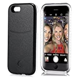 iPhone 6S Plus Case, Elftear LED Light Up Selfie Cell Phone Case Luminous Back Cover Skin for Apple iPhone 6S Plus iPhone 6 Plus 5.5 Inch (Black)
