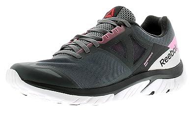 869b8a9f0d1f Reebok Z Strike Run Womens Ladies Trainers Black Pink - Black Pink - UK