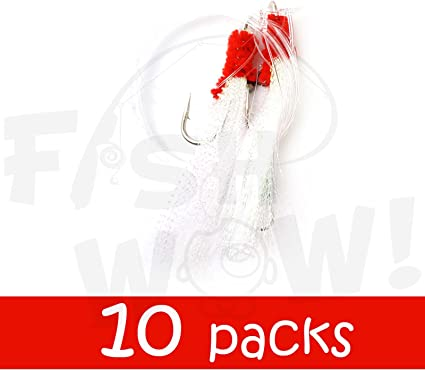 no hooks 10 Dropper Loop Fishing Rigs With Beads