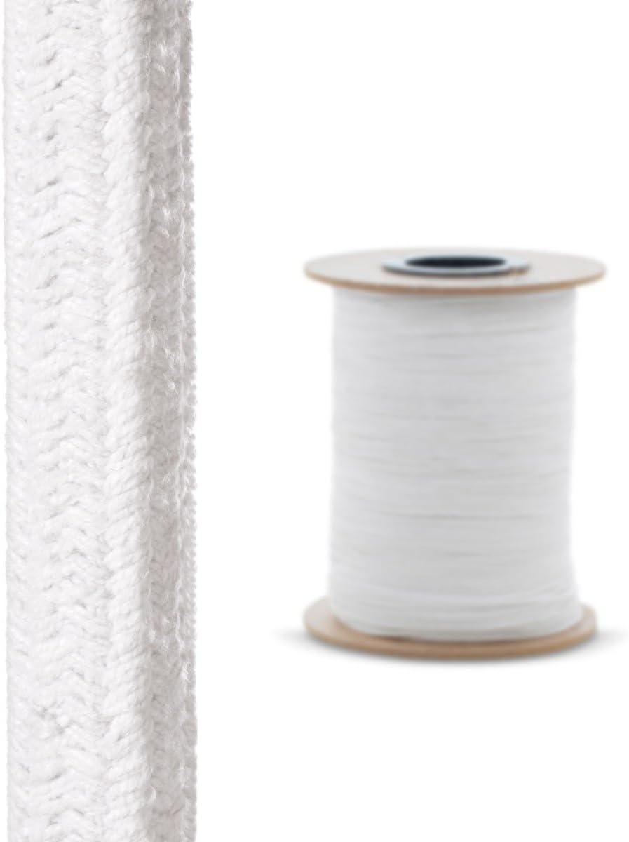 6x6 mm STEIGNER Cord/ón de Sellado Ceramico SKD01-6 con Adhesivo de Montaje T/érmico Sellado Resistente a Temperaturas hasta 1260/°C 1 m