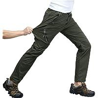 KEFITEVD Wandelbroek voor heren, 4-weg stretch, sneldrogend, trekkingbroek, ademend, bergbroek, stretchband, broek…