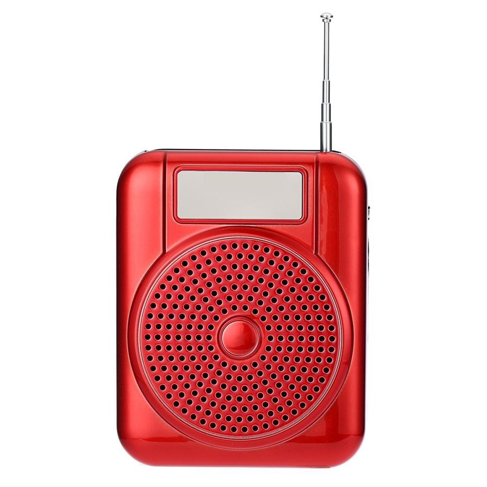 Huang Dog-shop Mini Amplificatore Altoparlante Portatile Ultraleggero Ricaricabile,Amplificatore di Voce da Cintura Portatile con Microfono Per le Guide Turistiche, Insegnanti, Promotori di Vendita