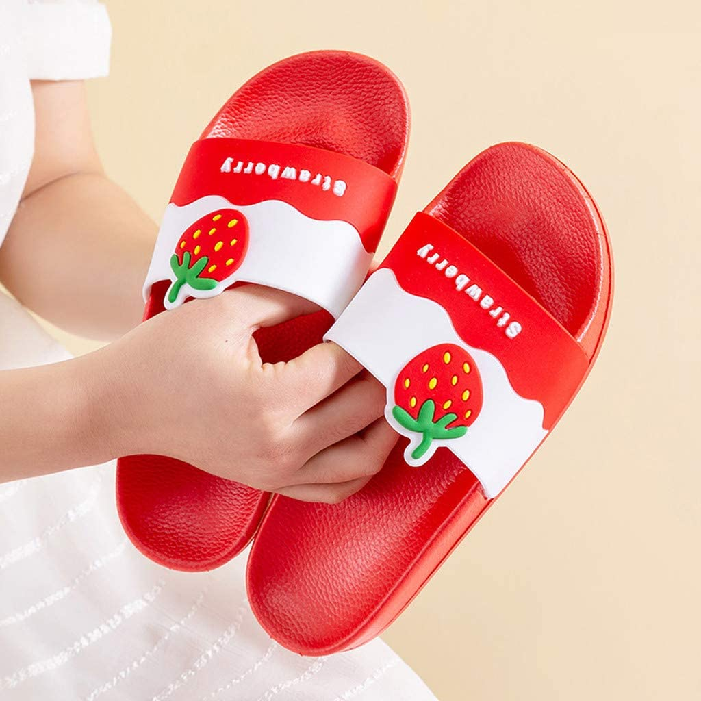 Eoeth Womens Mens Cartoon Couples Home Bathroom Shower Non-Slip Slippers Pool Shoes Flats Platform Open-Toed Sandals